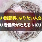 NICU看護師になりたい人必見!元NICU看護師が教えるNICU知恵袋